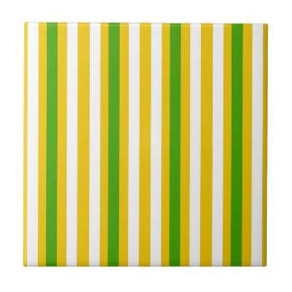 Banana Yellow Stripe Ceramic Tile