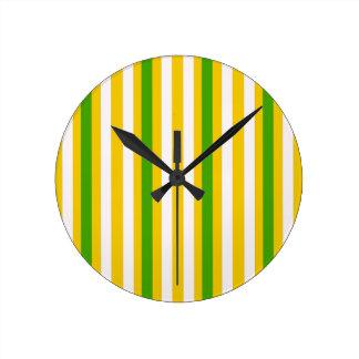 Banana Yellow Stripe Round Clock