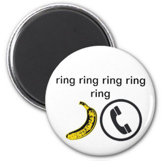 BananaPhone 6 Cm Round Magnet
