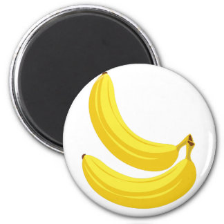 Bananas 6 Cm Round Magnet