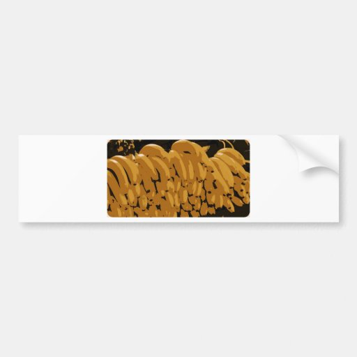 Bananas Abstract Bumper Stickers