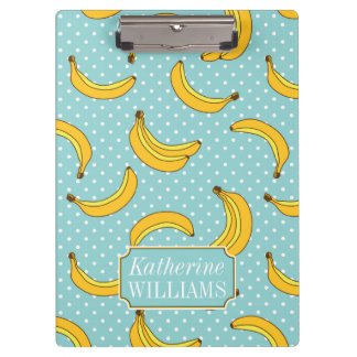 Bananas And Polk Dots | Add Your Name Clipboard