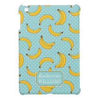 Bananas And Polk Dots | Add Your Name iPad Mini Covers