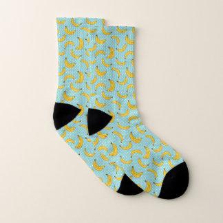 Bananas And Polk Dots Socks