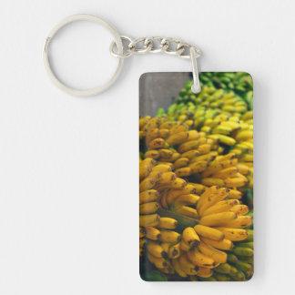 Bananas at night Double-Sided rectangular acrylic key ring