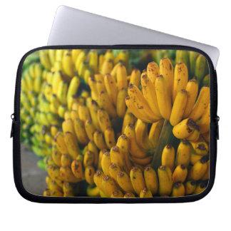 Bananas at night laptop sleeve