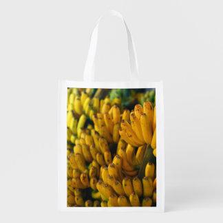 Bananas at night reusable grocery bag
