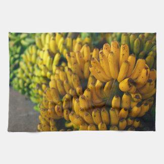 Bananas at night tea towel