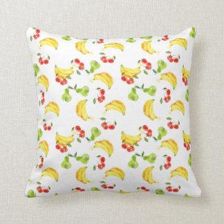 Bananas, Cherries, & Pears Pillow