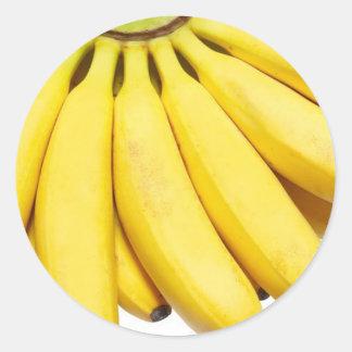 Bananas, crazy bananas classic round sticker