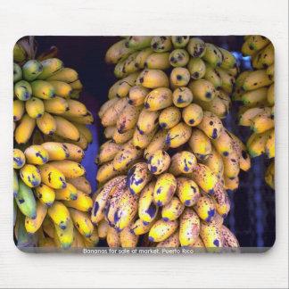 Bananas for sale at market, Puerto Rico Mousepad