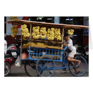 Bananas for sale greeting card