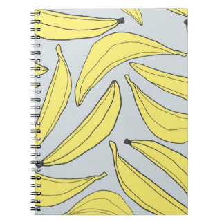 Bananas Notebook in Yellow