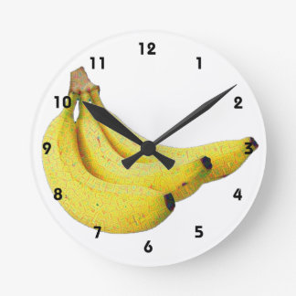 Bananas Round Clock