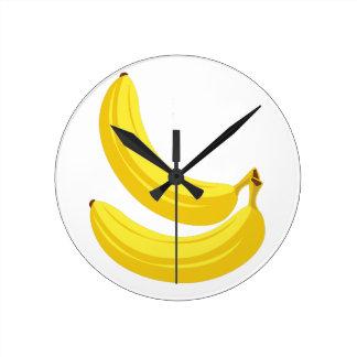 Bananas Round Clock