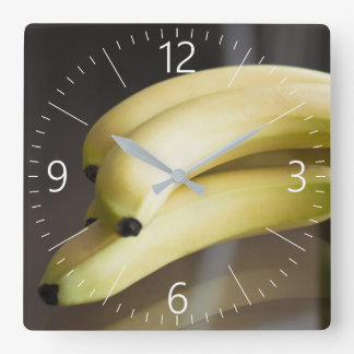 Bananas Square Wall Clock