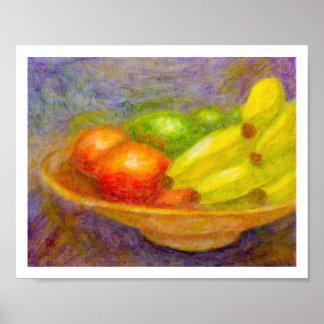 Bananas,Tomatoes, Limes, Poster