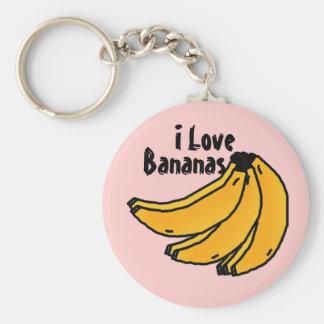 bananasreality, Bananas, I Love Basic Round Button Key Ring