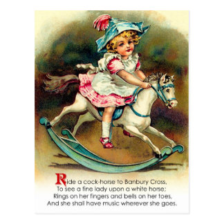 Banbury Cross Nursery Rhyme Postcard