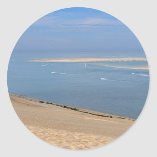 Banc of Arguin seen from Dune of Pilat Classic Round Sticker