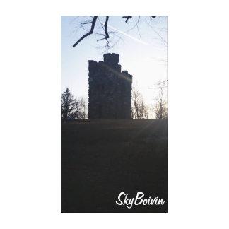 Bancroft towers at sunset canvas print