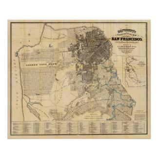 Bancroft's official Guide Map of San Francisco Poster