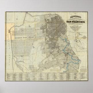 Bancroft's Official San Francisco City Map Poster
