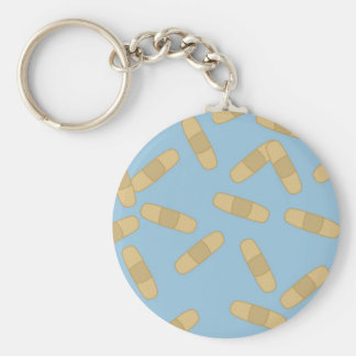 Band Aid Basic Round Button Key Ring