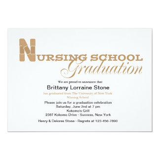 Band-aid Nursing School Graduation Invitation