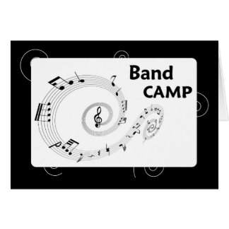 Band Camp, Black and White Music Notes