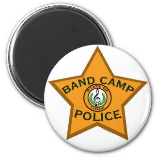 Band Camp Police 6 Cm Round Magnet