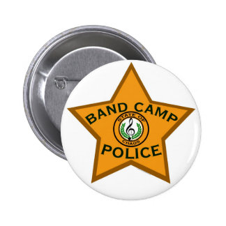 Band Camp Police Pinback Buttons