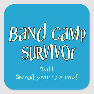 Band Camp Survivor (CHANGE YEAR!) Sticker