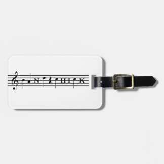 Band Chick Luggage Tag