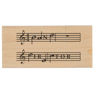 Band Director Personalised USB Wood USB 2.0 Flash Drive