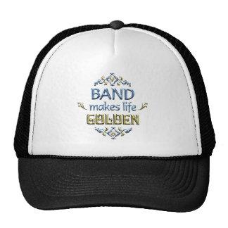BAND is Golden Trucker Hat
