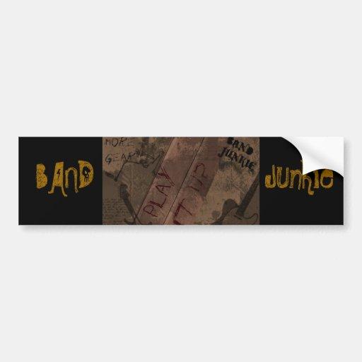 BAND Junkie Bumper Sticker