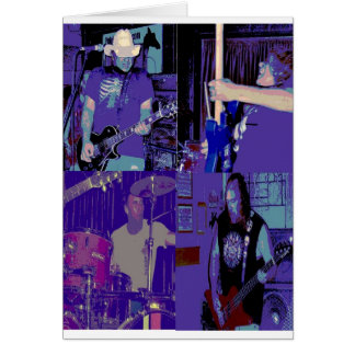 Band live July 2009 Greeting Card