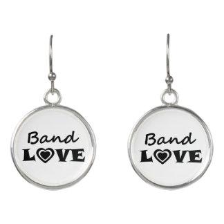 Band Love Earrings