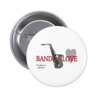 Band Love/ Saxophone 6 Cm Round Badge