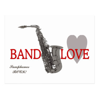 Band Love/ Saxophone Postcard
