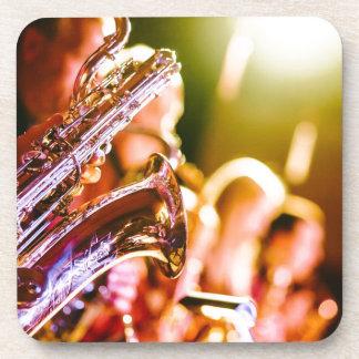 Band Music Musical Instruments Saxophones Horns Coaster