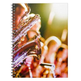 Band Music Musical Instruments Saxophones Horns Spiral Notebook