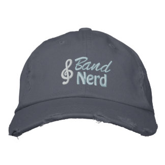 Band Nerd Embroidered Baseball Caps