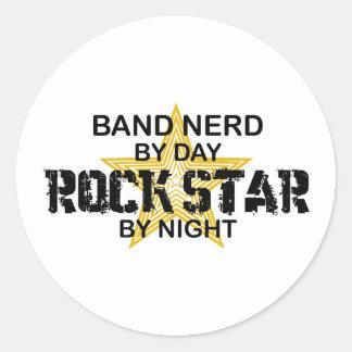 Band Nerd Rock Star by Night Round Sticker