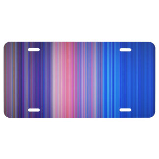 Band of Color License Plate