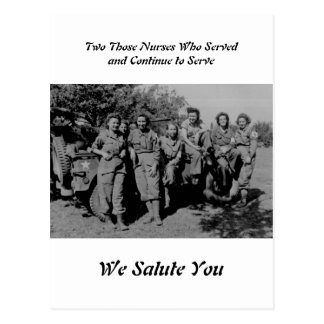 Band Of Sisters - Nurses During WWII Postcard