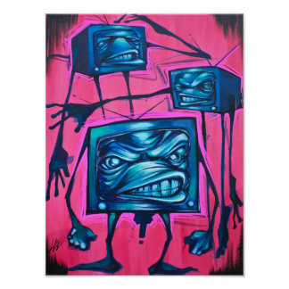 BAND OF TVs CANVAS Poster