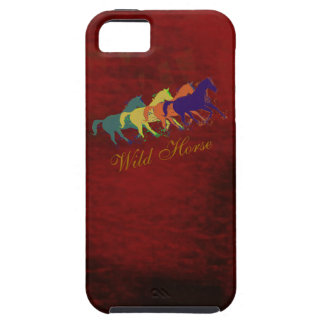band of wild horses running tough iPhone 5 case