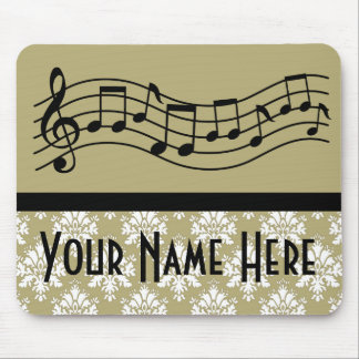 Band or Choir Personalized Music Damask Mouse Pad